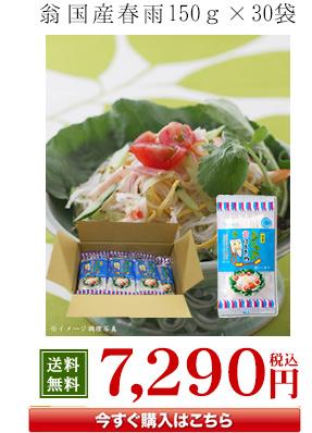 翁国産春雨150g×30袋