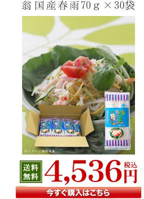 翁国産春雨70g×30袋