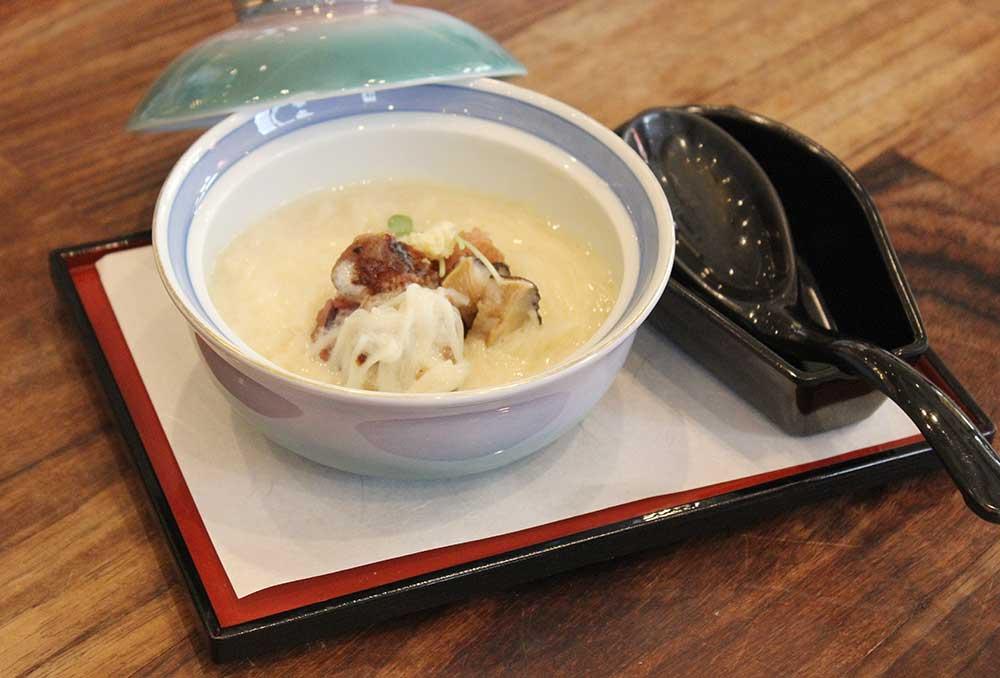 古代米おこげの豆乳にゅうめん