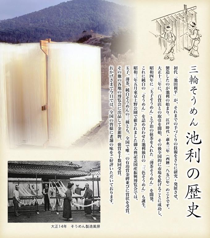 三輪素麺池利の歴史
