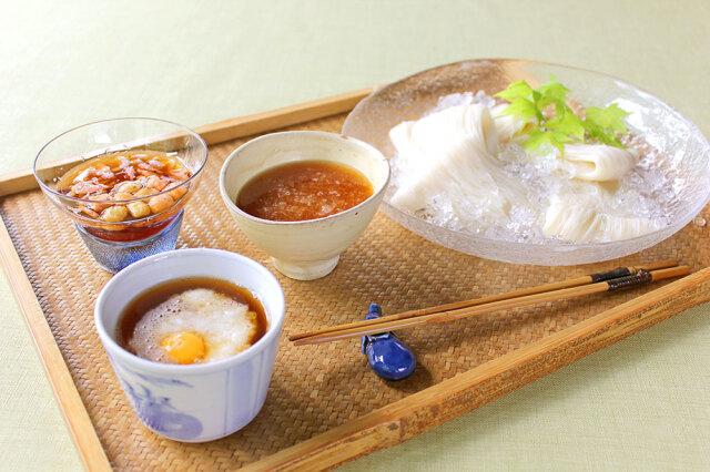 冷やし素麺 三趣つゆ